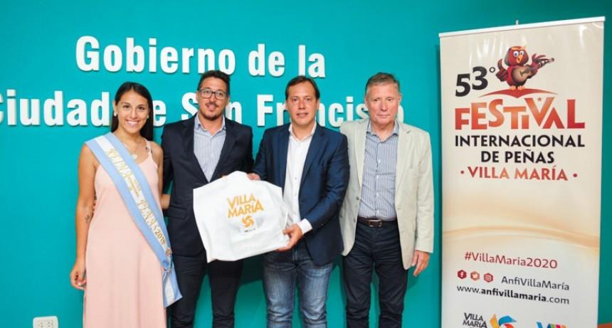 Presentaron en San Francisco el Festival Internacional de Peñas de Villa María