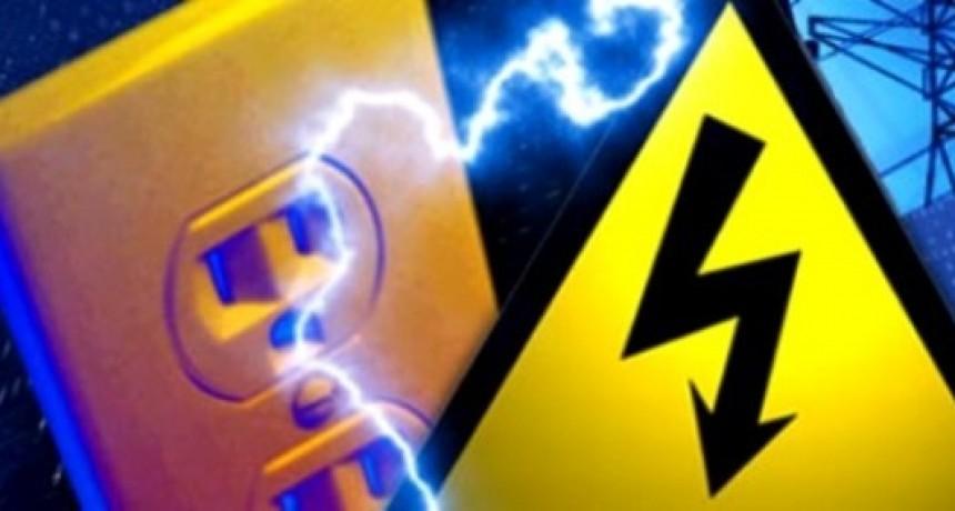 Cortes de energía programados para el fin de semana