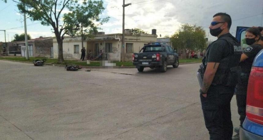Frontera: joven motociclista murió tras chocar con otra moto