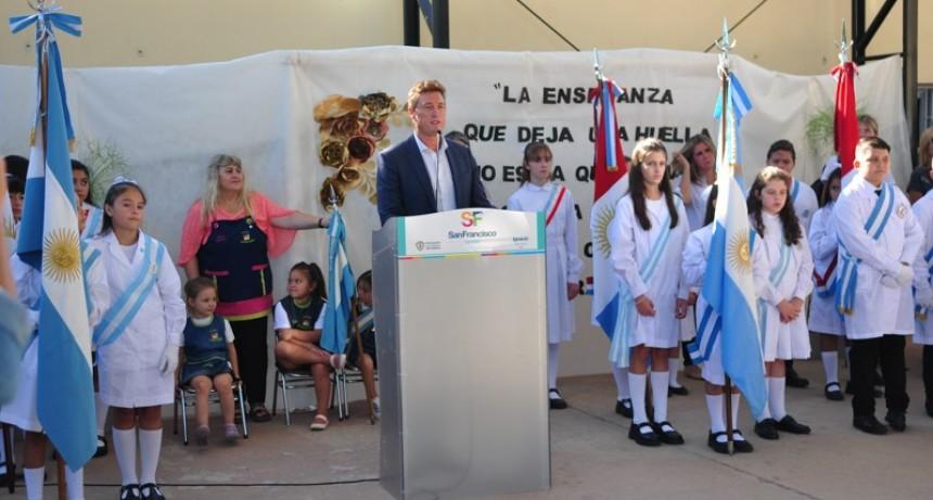 García Aresca acompañó  el inicio del ciclo lectivo 2020
