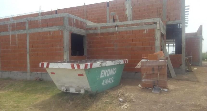 Volvieron a robar materiales de una obra en construcción