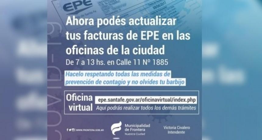 Como actualizar facturas de EPE Frontera.