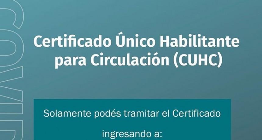 Certificado único habilitante para circulación ( CUHC )