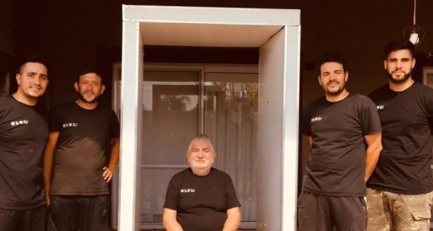 Emprendedores donarán una cabina de desinfección al Hospital Iturraspe