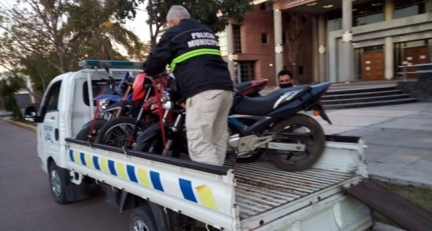 Secuestraron 32 motos en un control de tránsito