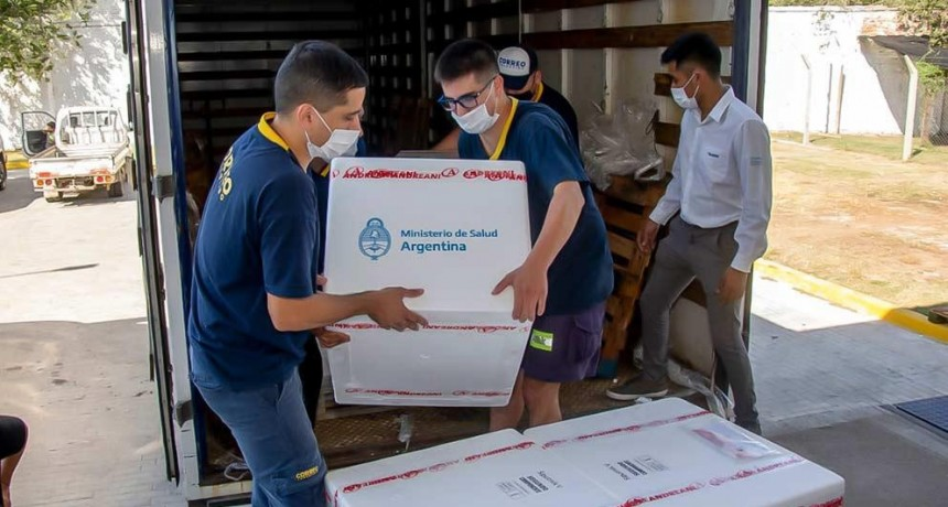 Córdoba recibió 61 mil nuevas dosis de vacunas