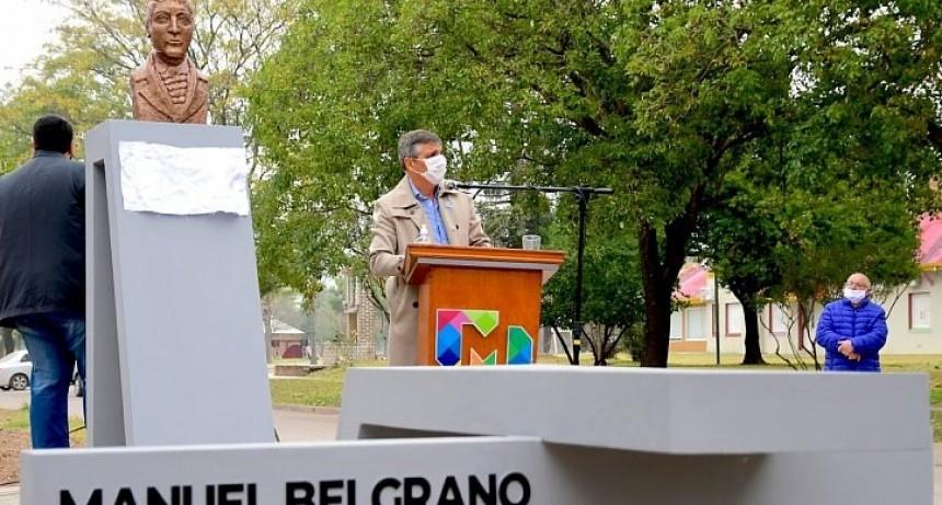 Morteros inauguró el Monumento al Gral. Belgrano