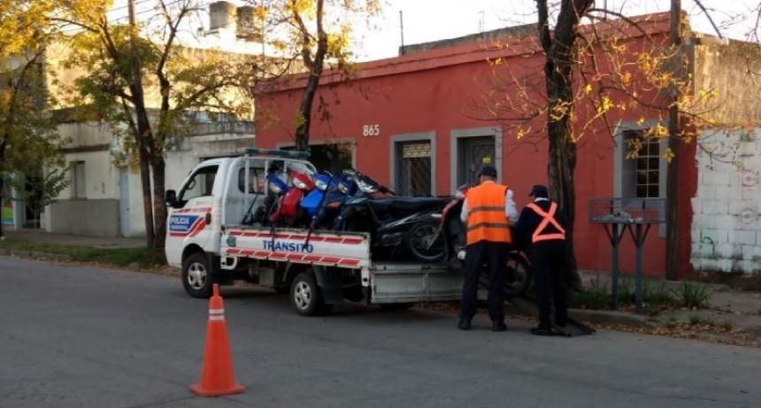 Barrio Sarmiento: secuestraron 19 motocicletas en controles
