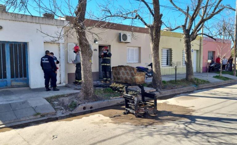 Bomberos controló el incendio de una vivienda