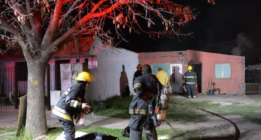 Se incendió una vivienda en barrio La Florida