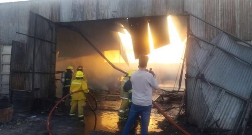 Alarma general de Bomberos: Ardió la Chacarita Juncos